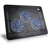 "HAVIT HV-F2065 15""-17""Ultra Slim Portable Laptop Cooler Cooling Pad with 3 Quiet Non-LED Fans (Black)"