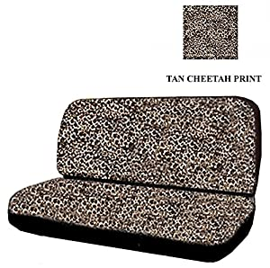 Amazon Com Car Truck Suv Cheetah Tan Rear Bench Or Small