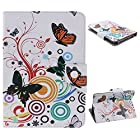 UZZO Universal 7 Inch Bling Flower Butterfly Pu Leather Stand Folio Case For RCA 7 Inch Tablet,ProntoTec 7 Inch ,Google Nexus 7,NeuTab I7/ X7 7,LG G Pad 7.0 case,blackberry playbook 7-inch tablet