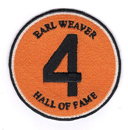 Earl Weaver Number '4 Hall Of Fame' Baltimore Orioles Memorial Sleeve Patch (2013) Jersey at Amazon.com
