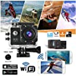 "Indigi® HD 1080P Sports DV Action Camera Camcorder 1.5"" LCD HDMI WiFi Version for iPhone 6 6+ Galaxy S6 S5 Note 4"