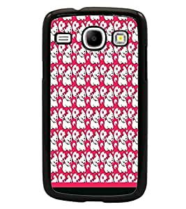 PrintDhaba Kitty pattern D-1781 Back Case Cover for SAMSUNG GALAXY CORE i8262 (Multi-Coloured)