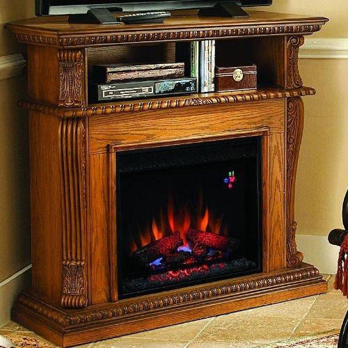 Corinth 42-inch Electric Fireplace Media Console - Premium Oak - 23de1447 photo B00G34SPF4.jpg