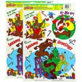 Scooby-Doo Christmas 9-Count Static Cling Window Decoratoins 2-Pack