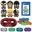 "36 Pc Superheroes Party Favor Pack (12 Metallic Half Masks, 12 Super Hero Bracelets, 1 SSSS, & 12 Super Heroes Buildable Figurines ""Superman, Batman, Aquaman, Wonder Woman, Cyborg, & Green Lantern"")"