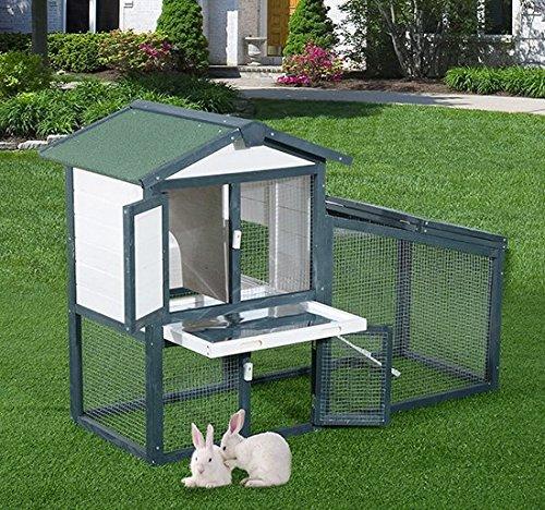 pawhut-gabbia-per-conigli-animali-in-lengo-di-abete-doppia-porta-140-x-65-x-100cm-verde-e-bianco