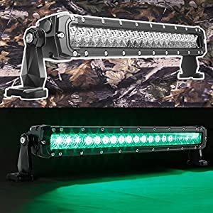 Green 20 inch hunting fishing led light bar for Green top hunting and fishing