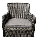 Hochwertiger-Poly-Rattan-Relaxsessel-Gartensessel-Loungesessel-Rattansessel-61x61x86cm-Sitzkissen-grau-meliert-Loungembel-Gartenmbel-Terrassenmbel
