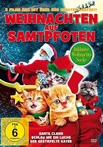 Weihnachten auf Samtpfoten - 3 Filme Edition (inkl. Weihnachtssocke)