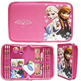 Disney Frozen Hot Pink Elsa Anna and Olaf Stationery Set Pack with Case (13 Pcs)