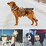 OneTigris Baumwolle Leinwand Hunderucksack Reisen Camping Wandern Hundebackpack für mittelgroße & Large Hunde -