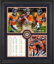 "Denver Broncos 2015 AFC Conference Champions Framed 23"" x 27"" Collage with a Piece of Game-Used Football - Limited Edition of 100 - Fanatics Authentic Certified"