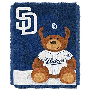 MLB San Diego Padres Field Woven Jacquard Baby Throw Blanket, 36x46-Inch by Northwest