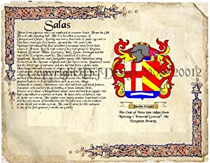 Amazon.com: Salas Coat of Arms/ Family Crest on Fine Paper and Family