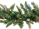 Christmas Garland 6ft Battery Operated LED Lighting Multi clr