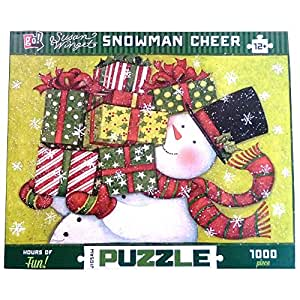 Susan Winget Snowman Cheer 1000 Piece Puzzle by Go! Games