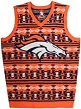 Forever Collectibles NFL Denver Broncos Ugly Sweater Vest, Large, Blue