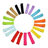 YHXX YLEN 20Pcs Small Baby Hair Bows Ribbon Clips for Girls Toddlers Kids (648 10 pairs) (Color: 648 10 Pairs, Tamaño: Small)