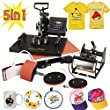 RACPLUS 5 in1 T-shirt Heat Press Machine Transfer Sublimation Hat Mug Plate Cap
