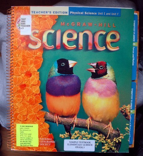 McGraw - Hill Science Teacher's Edition: Physical Science Unit E and Unit F Tennessee Edition PDF