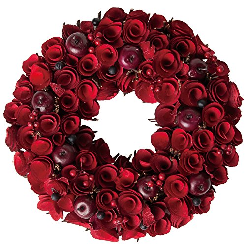 大橋新治商店 木の実のリース Natural Wreath リース 30cm レッド 28-036