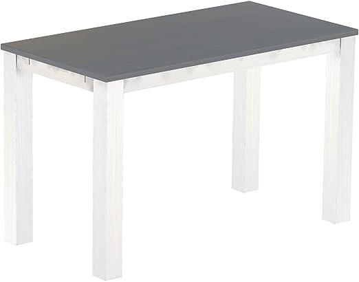 """Brasil Rio alta tavolo mobili """"classico grigio seta 177x 90cm, in legno di pino massiccio–bianco"""