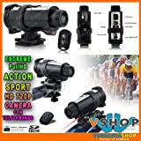 IChoose - High Definition Waterproof Actioncam HD 720P Sport Helmet Action Video Camera DVR With Remote Control, Supports Upto 32GB SD Card Ideal For Holidays, BMX, Skiing, Snowboarding, Rock-Climbing, Paintball, Skydiving, Swimming, ATV, Motocross, Hors