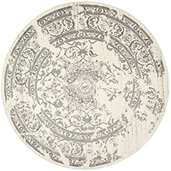 Safavieh Adirondack Collection ADR101B Ivory and Silver Oriental Vintage Round Area Rug (8' Diameter)