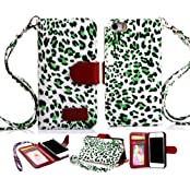 5s Case,iPhone 5 Case,iphone 5s Cover, IPhone 5S Cases,Leopardcases PU Wallet Leather Case IPhone 5 Case Cover...