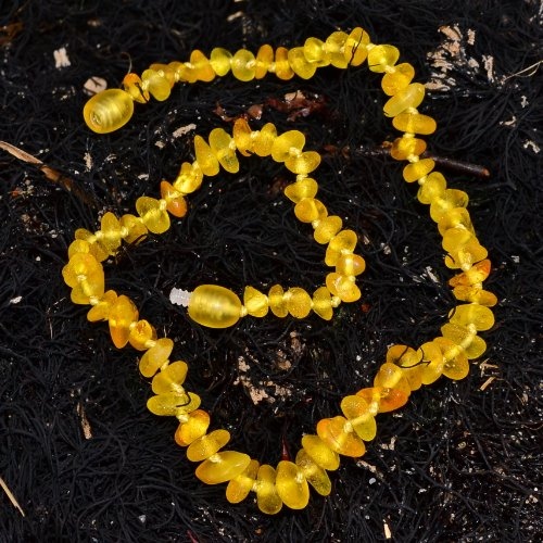Natural Amber Necklace for Your Baby - Safety Knotted - 1
