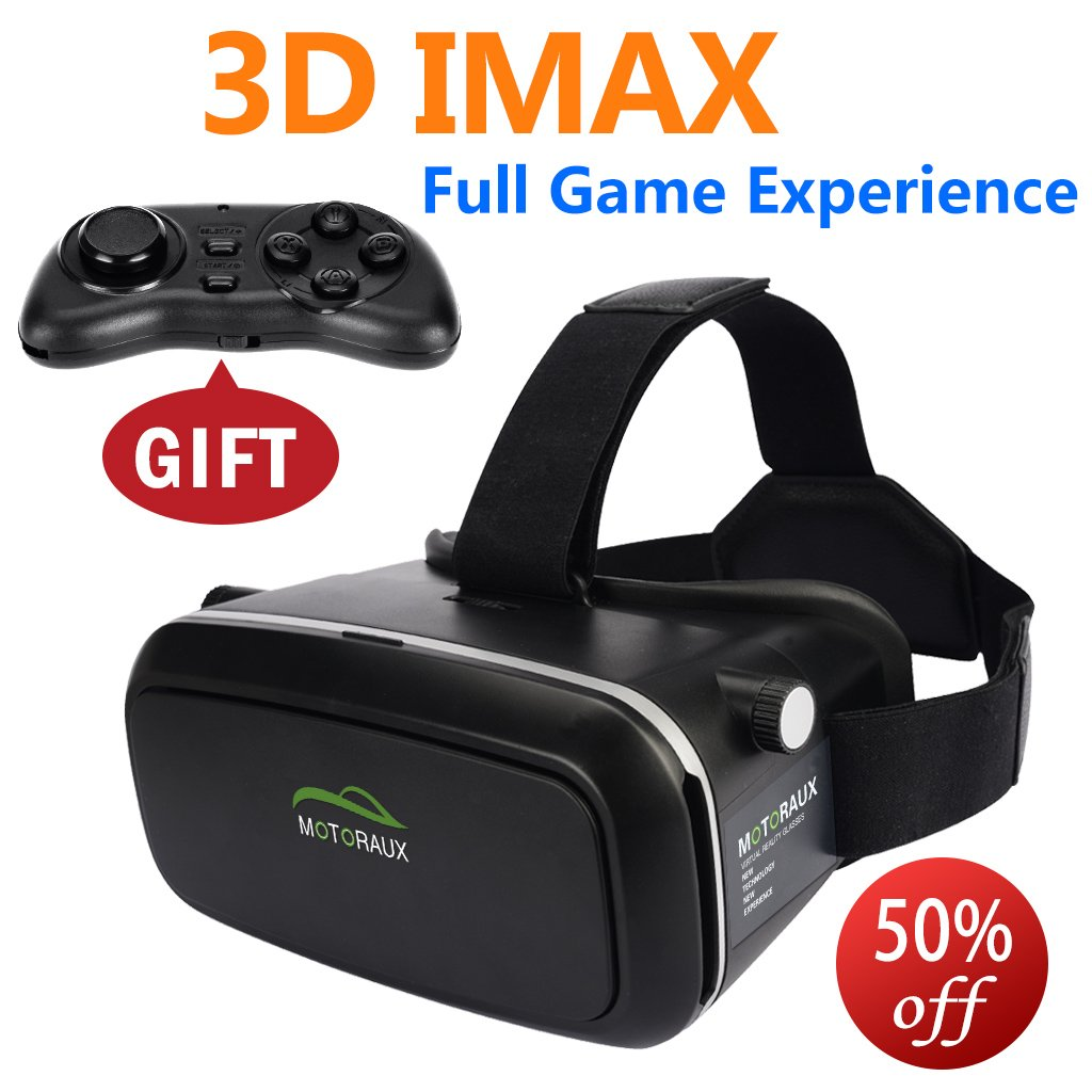 3rd Vr Virtual Reality Headset 3D Glasses DIY Video Movie Game Glasses fit for iOS, Android & PC phones Series For Gift (4.0-5.5 inches Available)