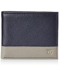 Titan Semi Formal Navy Blue And Grey Men's Wallet (TW175LM1BU)