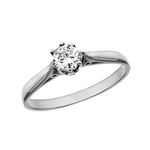 0.75 ct Diamond Solitaire 18 ct White Gold Ring