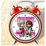 XINGQU Tiger&Bunny Anime Colorful Design Twin Bell Alarm Clock, Red