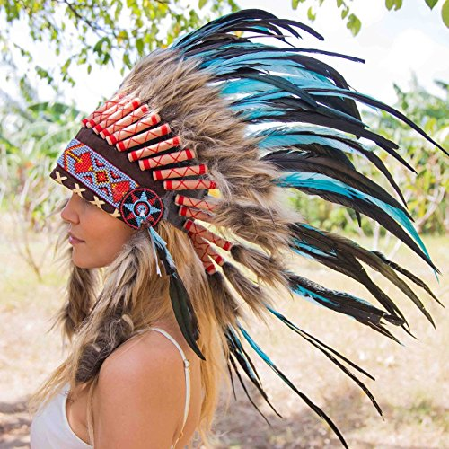 Choose Color | Indian Headdress | Native American Headdress | Real Feathers
