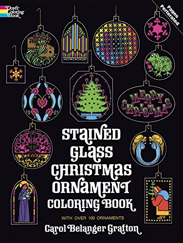Stained Glass Christmas Ornament Coloring Book (Holiday Stained Glass Coloring Book) (Birds Of America Coloring Book compare prices)