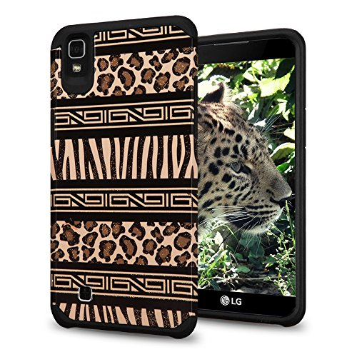 LG K6 / X Power Case, Glitter Hybrid, Slim Fit Polycarbonate and Silicone TPU Hard Cover - Zebra Leopard Print (Cute Animal Pics compare prices)