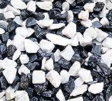 25 KG Zierkies Marmorkies gebrochen Marmor Splitt Mix Carrara weiss