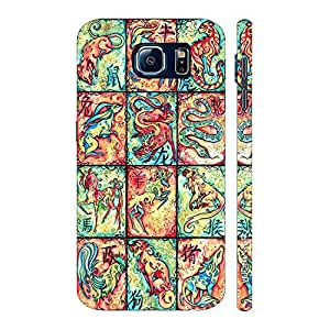 Enthopia Designer Hardshell Case CHINESE ZODIACS Back Cover for Samsung Galaxy S7
