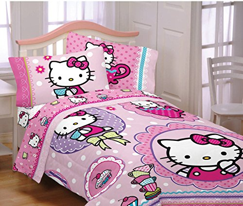 Hello-Kitty-Reversible-Twin-Bed-in-a-Bag-Bedding-Set