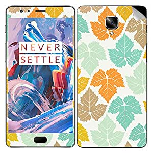 Theskinmantra Leafed Color mobile SKIN/STICKER/DECAL for OnePlus 3/Oneplus Three/1+3