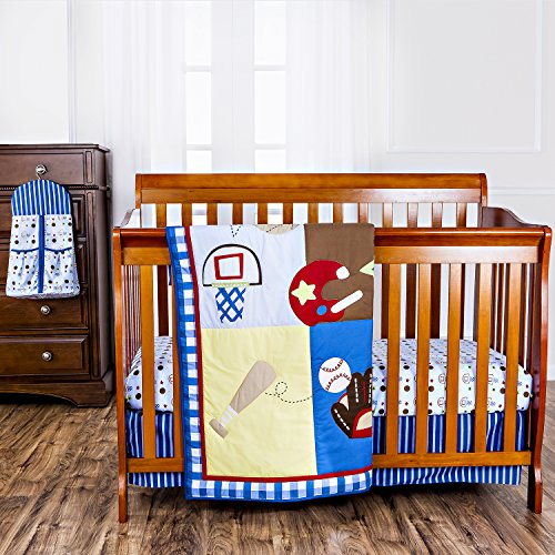 Dream On Me All-Star Athlete 5 Piece Reversible Full Size Crib Set - 1
