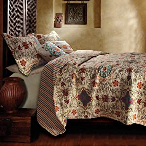 Greenland Home Esprit Spice Quilt Bonus Set King available at Amazon for Rs.21277