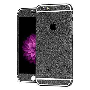 Heartly Sparking Bling Glitter Crystal Diamond Protective Film Whole Body Phone Skin Sticker For Apple iPhone 6 Plus / 6S Plus 5.5 Inch - Greyish Black