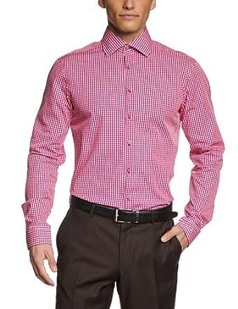 Jacques Britt Herren Slim Fit Businesshemd BRAD MIX 174050, Gr. X-Large (Herstellergröße: 44XL), Rot (pink)