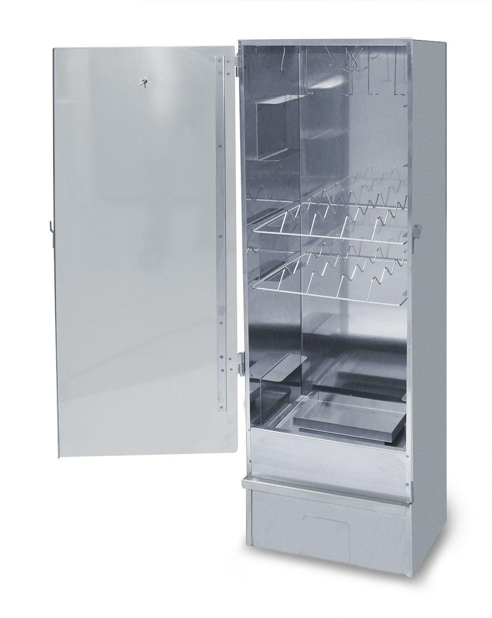 XXL Edelstahl Räucherofen / Räucherschrank mit 120cm Höhe + Gasbrenner 2,5 kw +Thermometer + viel Zubehör günstig bestellen