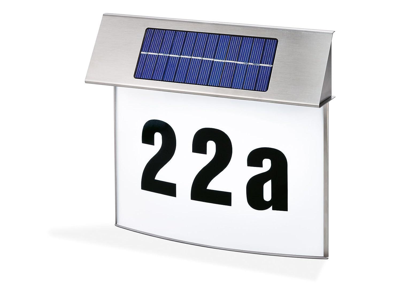 hausnummernleuchte mit solar solar. Black Bedroom Furniture Sets. Home Design Ideas