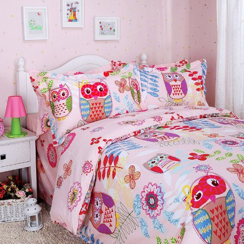 Full Size Owl Bedding 9657 front