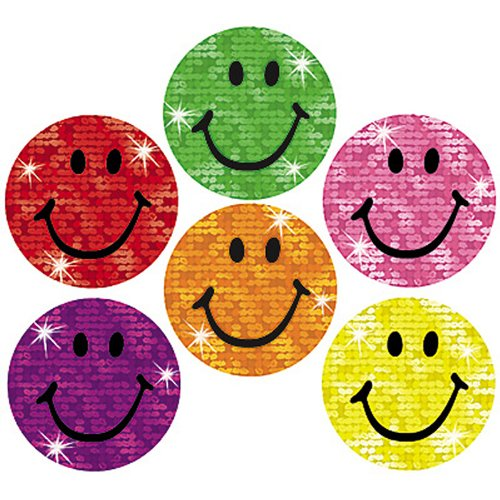 Trend Enterprises Silly Smiles Super Spots Sparkle Stickers, 160 per Package (T-46305) - 1