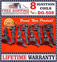 coil packs, FREE SHIPPING AUTO PARTS, FORD 4.6L 5.4L V8 COMPLETE SET OF 8 IGNITION COILS DG508